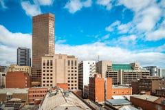 Opiniones del tejado de Adelaide CBD imagenes de archivo