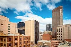Opiniones del tejado de Adelaide CBD fotos de archivo libres de regalías