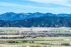 Opiniones del vista de las montañas rocosas de Colorado fotos de archivo libres de regalías
