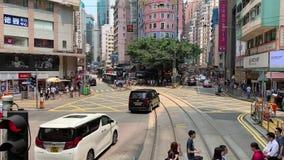 Opiniones diurnas normales de Wan Chai City almacen de video