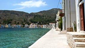 Opiniones hermosas de una costa costa de la isla de Rodas imágenes de archivo libres de regalías