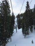 Opiniones majestuosas del invierno alrededor de Wasatch Front Rocky Mountains, Brighton Ski Resort, cerca del valle de Salt Lake  Foto de archivo libre de regalías