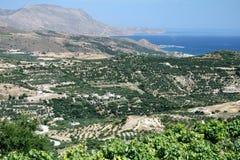 Opiniones occidentales de Creta Imagen de archivo