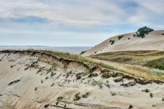 Opiniones panorámicas de las dunas lituanas Imágenes de archivo libres de regalías
