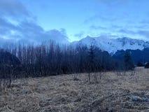 Opiniones soleadas de tiempo de primavera en Alaska foto de archivo