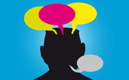 Opinions. Vector illustration of a crowded head stock illustration
