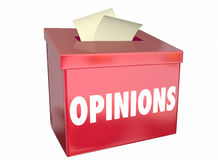 Opinions Send Submit Comments Box. 3d Illustration Royalty Free Stock Images
