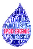 Opioid Epidemic Word Cloud Stock Images