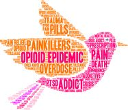 Opioid Epidemic Word Cloud Royalty Free Stock Photography