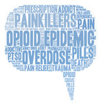 Opioid Epidemic Word Cloud Royalty Free Stock Images