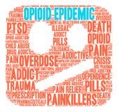 Opioid Epidemic Word Cloud Stock Photos