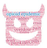 Opioid Epidemic Word Cloud Stock Image