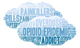 Opioid Epidemic Word Cloud Royalty Free Stock Image