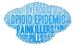 Opioid Epidemic Word Cloud Royalty Free Stock Photos