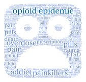 Opioid Epidemic Word Cloud Royalty Free Stock Photo