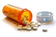 Opioid kryzys - Otwiera butelkę Recepturowi środki przeciwbólowi Obraz Royalty Free