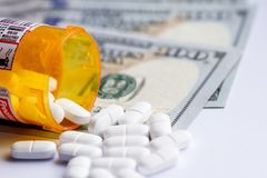 Opioid pain reliever Royalty Free Stock Image