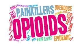 Opioids Animated Word Cloud stock illustration