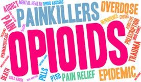 Opioids Word Wolk vector illustratie