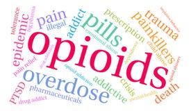 Opioids Word Wolk stock illustratie