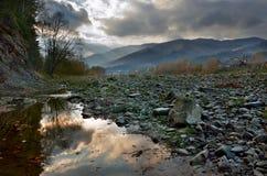 Opir flod i Carpathiansna Royaltyfri Fotografi