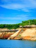 Opisani skały Bridalveil spadki Michigan Zdjęcia Stock