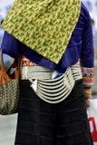 Opisywana kobiety suknia Chińscy południowi wschody sunie mniejszość Obrazy Royalty Free