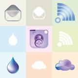 Opisywane nowożytne kamer ikony Obrazy Stock
