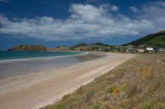 Opito Bay beach on Coromandel Peninsula, New Zealand Royalty Free Stock Images