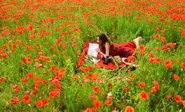 Opium poppy, agile business, ecology. stock photo