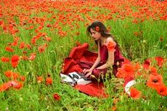 Opiumowy maczek, obrotny biznes, ekologia fotografia stock
