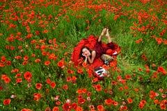 Opiumowy maczek, obrotny biznes, ekologia obraz stock