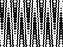 OPkunst-Ehrerbietung BR zu den schwarzen/weißen horizontalen Wellen Lizenzfreie Stockbilder