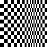 OPkunst-Ehrerbietung zu BR verzerrtem Schachbrett Stockfotografie