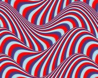 OPkunst-flüssiges Streifen-rotes blaues hellblaues Lizenzfreie Stockbilder
