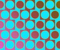 OPkunst-große Kreis-wechselndes Muster hellblau Stockfotos
