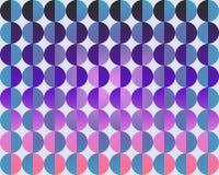 OPkunst-große Kreise durch halbes Blau-Purpur und Magenta Lizenzfreies Stockbild