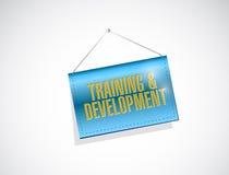 opleiding en ontwikkeling hangend teken Stock Afbeeldingen