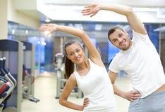 Opleiding in gymnastiek Royalty-vrije Stock Foto's