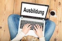 Opleiding (in het Duits) Stock Foto's