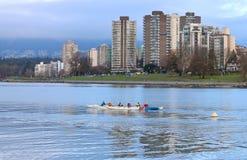 Opleiding het Roeien Club in Vancouver Royalty-vrije Stock Afbeelding