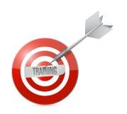 Opleiding op het doel. conceptenillustratie Stock Fotografie