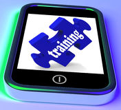 Opleiding op Smartphone die Snelle Lessen tonen stock illustratie
