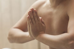 Opleiding van de yogi royalty-vrije stock foto