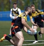 Opleiding van rugby sevens team royalty-vrije stock fotografie
