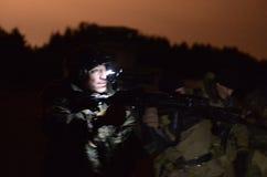 Opleiding van Russische politie Speciale Krachten swat stock afbeeldingen