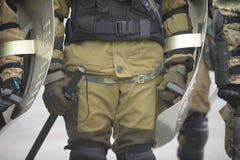 Opleiding van Russische politie Speciale Krachten swat stock foto