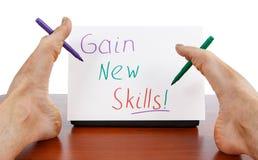 Opleidings nieuwe vaardigheden en creativiteit Stock Foto's