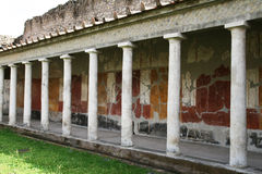 The oplontis portico. The ancient roma portico of oplontis in italy royalty free stock photos