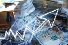 Oplopende marktEffectenbeurs royalty-vrije stock fotografie